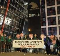 Desalojan a quienes protestaban contra los desahucios en Madrid