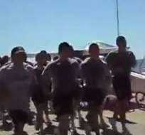 Gobierno de Chile demanda investigar cánticos xenófobos de sus marinos