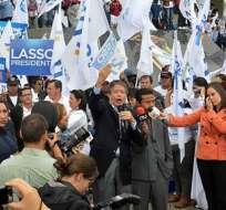 Lasso cerró su campaña en Quito
