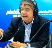 Guillermo Lasso hoy madrugó para empezar el cierre de campaña