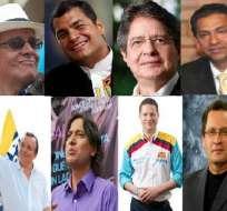 Los ocho hombres que quieren ser presidentes de Ecuador