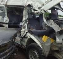 Accidente de tránsito en Calceta deja un muerto y 15 heridos que se dirigían a votar