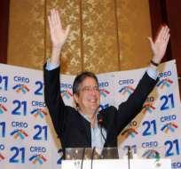 CREO, la segunda fuerza política distante del Ecuador