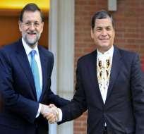 Gobierno español felicita a Correa y apuesta por intensificar relaciones