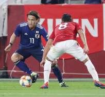 Japón superó 1-0 a Bolivia en el estadio Noevir de Kobe. Foto: JIJI PRESS / AFP