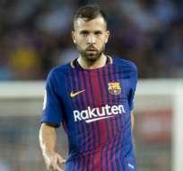 Jordi Alba, lateral titular del FC Barcelona.