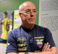 El entrenador de la selección ecuatoriana sub-20 habló tras la derrota ante Corea del Sur.. Foto: Archivo