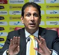 El presidente de Barcelona dio detalles sobre la presentación del equipo y Byron Castillo. Foto: Archivo