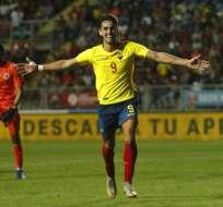 El delantero ecuatoriano habló sobre su primera experiencia con la selección de mayores. Foto: Archivo