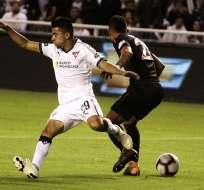 Los 'albos'' quedaron 2-2 con Independiente Santa Fe. Foto: API