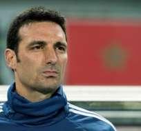 El entrenador de la seleción argentina sufrió trauma facial y varias cotusiones. Foto: FADEL SENNA / AFP