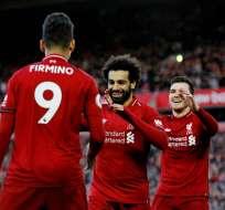 El Liverpool ganó y se puso primer en Inglaterra.