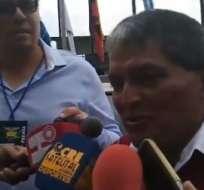 El dirigente de M. Runa se quejó por la presencia de dirigentes en foto de la otra lista. Foto: Captura de pantalla