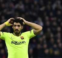 El delantero uruguayo no anota en condición de visitante hace más de 3 años en el torneo. Foto: JEFF PACHOUD / AFP