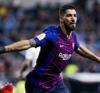 Luis Suárez festeja el tercer gol del partido. Foto: Twitter FC Barcelona.
