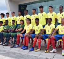 Plantel de la selección ecuatoriana sub 17.