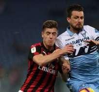 Milan y Lazio midieron fuerzas este sábado.