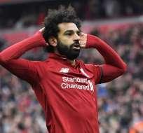 Salah, figura del Liverpool.