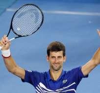 El número uno del mundo venció a Jo-Wilfried Tsonga en tres sets. Foto: DAVID GRAY / AFP