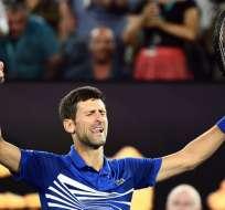 El serbio venció en semifinales del Australian Open al francés Lucas Pouille. Foto: Jewel SAMAD / AFP