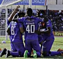 Olmedo celebra la victoria.