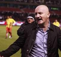 El entrenador de Liga de Quito aseguró que podría jugar con dos delanteros. Foto: Archivo/API