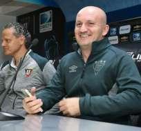 El entrenador de liga de Quito se refirió al caso de Jefferson Intriago. Foto: Archivo