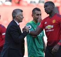 El entrenador del Manchester United habló tras los rumores de una salida al Real Madrid. Foto: Paul Ellis/AFP