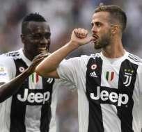 Miralem Pjanic, centrocampista de 28 años de la Juventus.