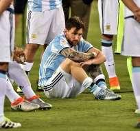 Messi renuncia a la selección argentina.