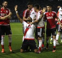 Es el primer gol del zaguero central ecuatoriano con la camiseta de River.