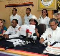 Representantes del movimiento político