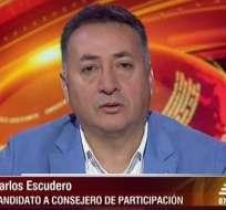 Carlos Escudero, candidato al CPCCS