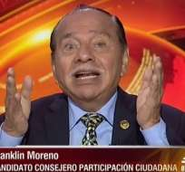 Franklin Moreno, candidato al CPCCS