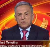 Aland Molestina, candidato al CPCCS