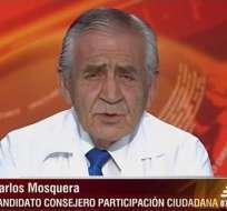 Carlos Mosquera, candidato al CPCCS