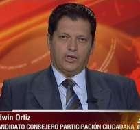 Edwin Ortiz, candidato al CPCCS