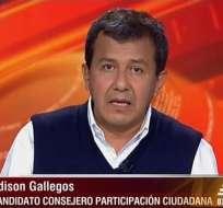 Édison Gallegos, candidato al CPCCS