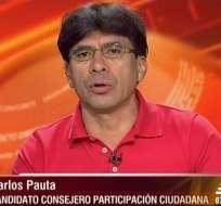 Carlos Pauta, candidato al CPCCS