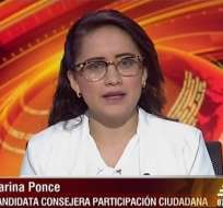 Karina Ponce, candidata al CPCCS