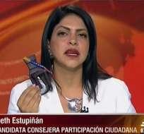 Ibeth Estupiñán, candidata al CPCCS