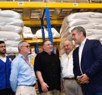 Mike Pompeo visitó Cúcuta, ciudad colombiana fronteriza con Venezuela. Foto: AFP