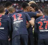 Jugadores del PSG con sus nombres en mandarín