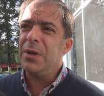 Rodrigo Espinosa, presidente de la Comisión la Comisión de Arbitraje de la Federación Ecuatoriana de Fútbol (FEF).