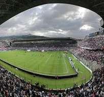 Estadio Rodrígo Paz Delgado, casa de Liga de Quito.