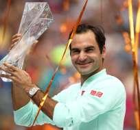 El tenista suizo superó en dos sets al estadounidense que era el campeón reinante. Foto: JULIAN FINNEY / GETTY IMAGES NORTH AMERICA / AFP