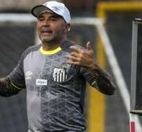 Jorge Sampaoli, entrenador del Santos FC.