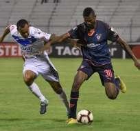 San José en su partido ante Liga de Quito.
