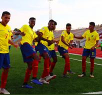 La selección ecuatoriana superó a su rival por 1-0 con gol de Johan Mina. Foto: Tomada de @sub17Peru2019