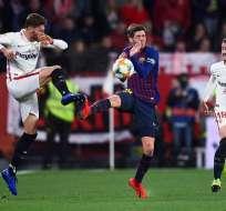 Sevilla y Barcelona en el partido de este miércoles